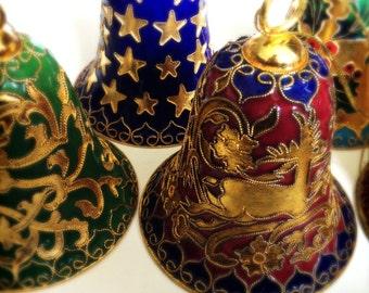 Brass Christmas Tree decorations: Large Bells