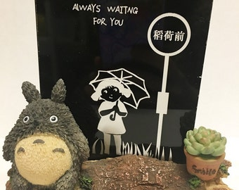 "My neighbour studio Ghibli Totoro Figures room light Lamp ""always waiting for you"" valentines gift"