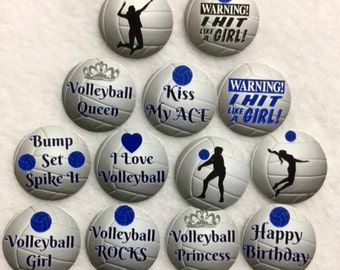 Set Of 50/100/150/200 Personalized Volleyball Birthday Party 1 Inch Circle Confetti