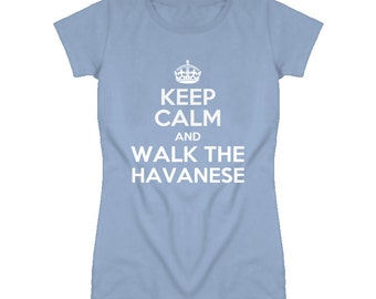 Keep Calm And Walk The Havanese Rescue Dog T Shirt