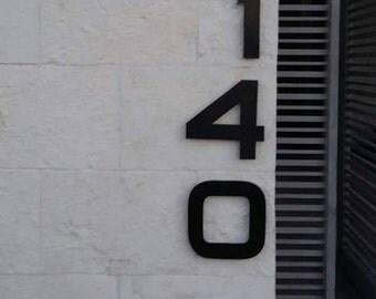 Modern house numbers (set of 3) aluminum, metal, modern font, address numbers, metal numbers