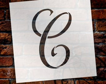 C -Graceful Monogram Stencil - Select Size - STCL1903 - by StudioR12