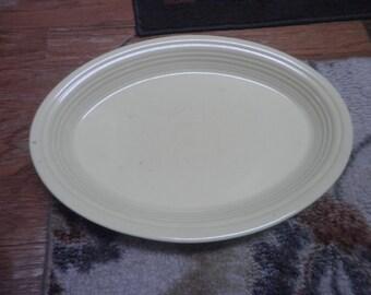 Vintage Fiestaware 13 inch yellow platter