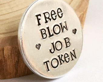 Free Blow Job Token, Rude Gift, Gifts for Groom, Gifts for Husband, Sex Token, from wife, Rude, Present, Gifts for Fiance, Sex Game, Adult