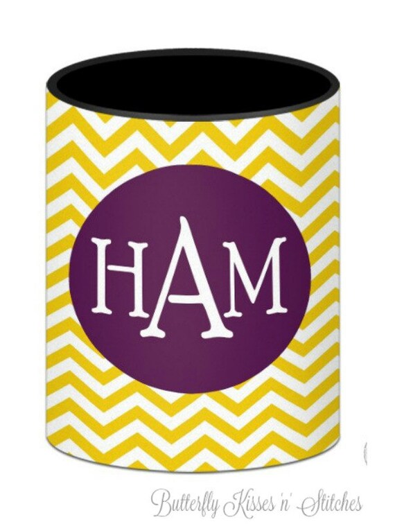 Personalized/Stylish/ Chevron Pattern/ Fits 12, 16 oz or long neck bottle