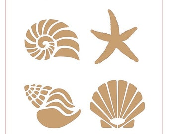 Seashells Stencil