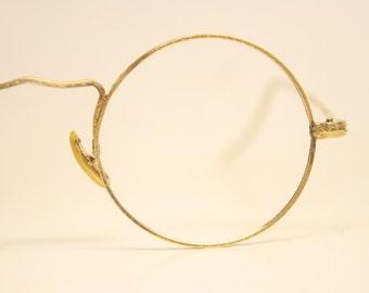 Antique Round Gold Tone Eyeglasses