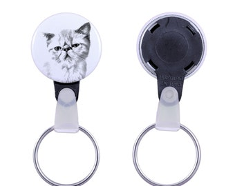 Keyring with a cat - Exotic Shorthair