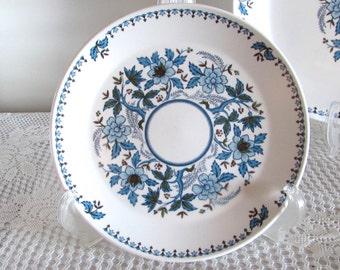 Blue Moon Noritake China Salad Plate, Noritake Progression China, Shower Gift, Replacement Plate, Blue and Green Floral Pattern Dish Ware