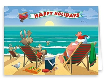 Beachside Enjoyment Christmas Card 18 Cards & Envelopes - 30003