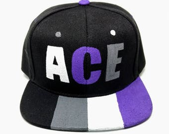 Asexual Ace Pride Snapback Hat LGBTQ+