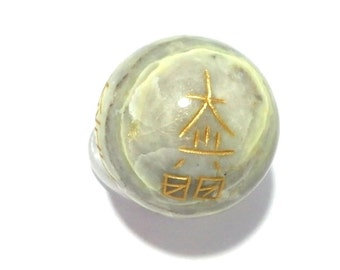Wholesalegemshop Genious Gemstone Of Serpentine Ball With Usui Reiki with Free Shipping