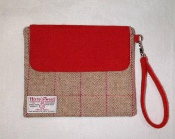 Harris Tweed Clutch bag, ereader case, make up bag