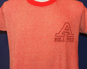 Vintage 1980s University of Alabama Roll Tide t shirt 80s striped *S/M