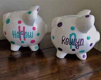 Ceramic piggy bank,personalized kids gift,personalized piggy bank,piggy bank,baby shower gift,personalized piggy bank boy,girl,