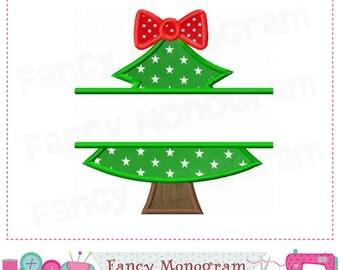 christmas treesplit christmas treechristmas appliquechristmas tree christmas embroidery - Christmas Tree Applique