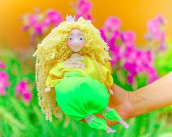Cute polymer clay doll creative toy peter pan neverland imaginative play soft art doll play with fairies play with kids