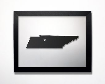 Tennessee Map / Laser Cut Map / Tennessee State Art / Tennessee Art / Framed State Map / Tennessee Gift / Wedding Gift / Anniversary Gift