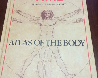 Vintage Time Atlas Of The Body By Rand McNally 1980 Time Magazine Hardcover Collectible Book Human Anatomy Book Vintage Book Collectible