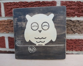Rustic Owl Sign, Rustic Wood Owl Sign, Owl Nursery Sign, Nursery Decor, Baby Shower Gift