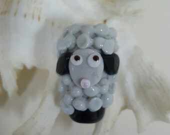 Handmade Focal Sheep Bead