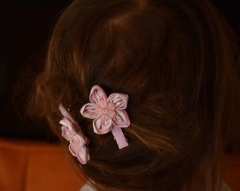 SALE! Pair Fabric Flower Hairpin for Girls Kids Accessories for Hair