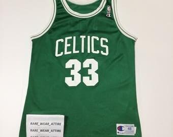 Vtg nba jersey Larry bird Boston celtics sz 48 champion jersey thomas