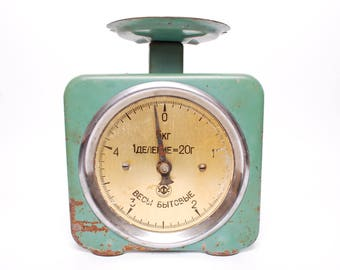 Antique Metal Kitchen weighing scale, From Soviet Russia