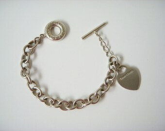 TIFFANY and CO heart bracelet solid silver 925