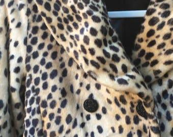 Super 90s Faux Fur Leopard Jacket