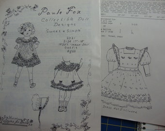 doll clothing patterns  set 7