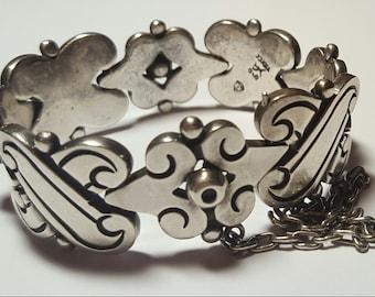 Vintage Hector Aguilar Taxco 940 Silver Fertility Bracelet