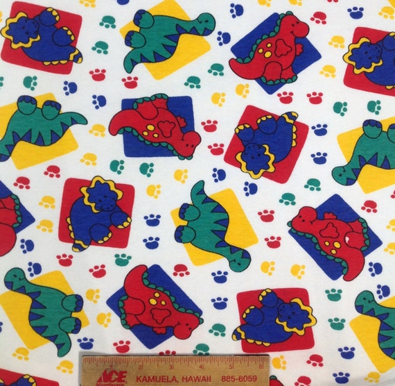 Kids dinosaur knit fabric baby interlock print fabric for Children s animal print fabric