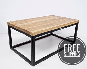 industrial coffee table etsy de. Black Bedroom Furniture Sets. Home Design Ideas