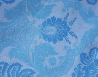 Blue Floral Cotton Fabric Waverly Inspirations Baby Boy Nursery