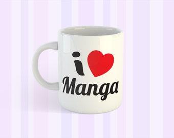 I Heart Manga Coffee Mug