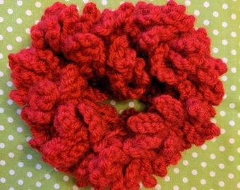 Red Hair Scrunchie, Crochet Scrunchie