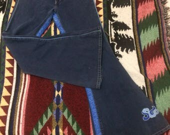 Authentic Vintage USA Made JNCO Denim Jeans Size 11 Waist Ladies (28 waist)