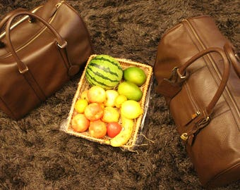 Genuine brown leather duffle travel bag for Men & Women made to perfection!!!