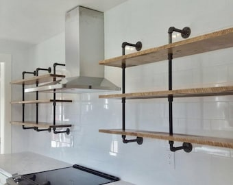 pipe double bookshelf reclaimed wood wall mount bookshelf black or galvanized pipe wall mounted shelf