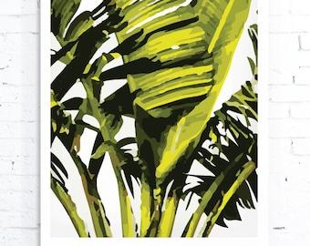 Tropical Leaf Print, Palm Leaf Art, Palm Leaf Print, Leaf Print, Palm leaf, Tropical Print, Banana Leaf Print, Banana Leaf, Tropical Leaves