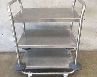Stainless Industrial Rolling Cart (VLVQT5)