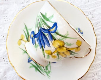 Crown Royal bone china teacup and saucer