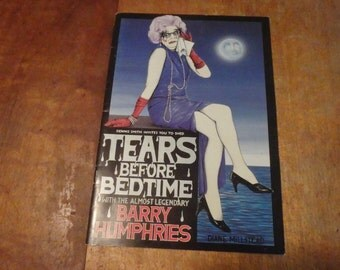 """Barry Humphries in """"Tears before bedtime"""" , programme,"""