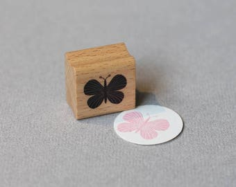 Stamp Butterfly Rosa
