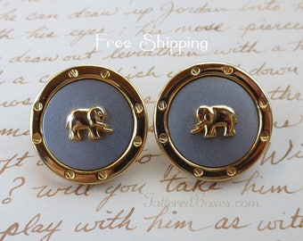 Elephant Earrings - Vintage - Shipping Included!