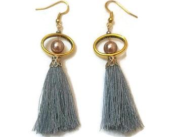 Boho Tassel Earrings - Long Tassel Earrings - Tassel Earrings - Tassel Earrings Gold - Gold Tassel Earrings - Long Gold Earrings - Earrings