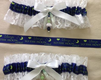 I Love You to the Moon & Back Garters