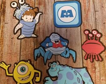 Disney's  Monster Inc printed die cut set choose from 5 different designs