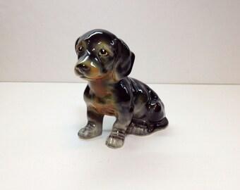 Vintage Puppy Dachshund Figurine, Vintage Ceramic Dog Figure, Puppy Dog Dachsund, Vintage Ceramic Animal, Vintage Ceramic Animal Figure